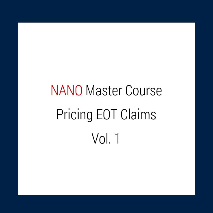 N M Raj's Nano Master Course - Construction Claims: Pricing Extension of  Time Claims: Vol 1